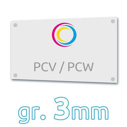 tabliczka PWC 3mm drukarnia wDruk
